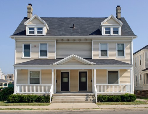 A Duplex has only two floor never three o four floor